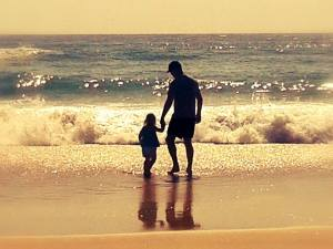 Mike and Abby playing in the Gold Coast waters