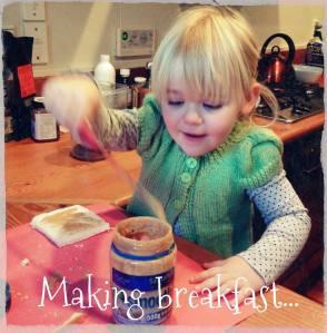 abby making breakfast