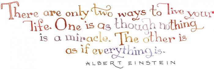 miracles - a-einstein